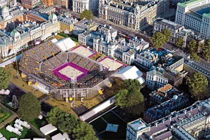 Horse Guards Parade: will host beach volleyball
