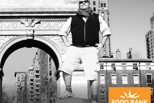 Chef and Food Bank board member Mario Batali was one of the celebrities featured in the ad campaign.
