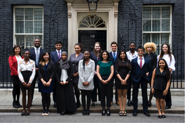 A previous intake of Government Communications Service interns