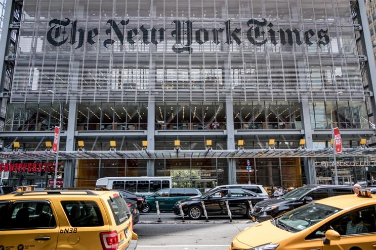 The New York Times headquarters in New York. (Getty Images)