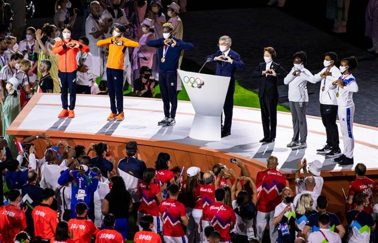 Tokyo's closing ceremony was fitting end to a two-week celebration of sporting inspiration. (Pic credit: Getty Images.)