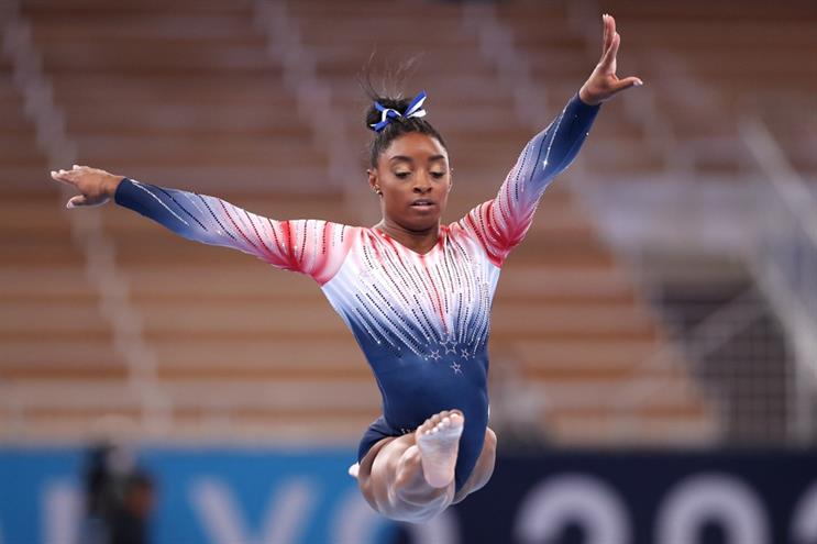 US gymnast Simone Biles at the Tokyo Olympics (Getty Images)