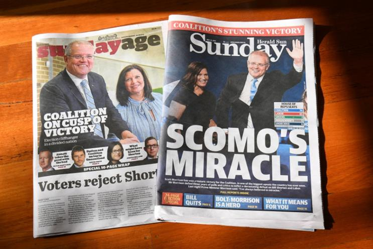 News Corp has been in favour of PM Scott Morrison and his Liberal Party