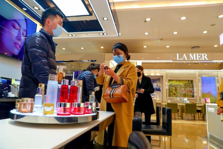 Some shopping malls in China have resumed business