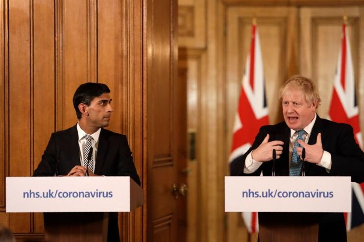 Sunak and Johnson display markedly different styles at the daily press briefings (Pic credit: Getty Images)