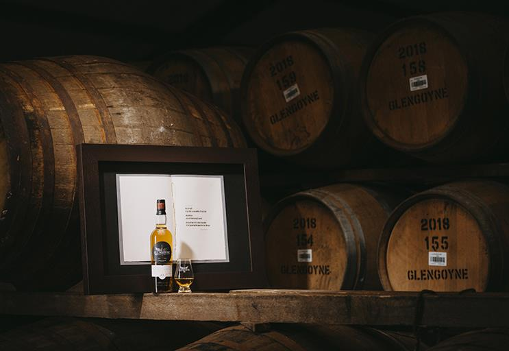 Watch: Whisky 'unhurried' art project that reveals secret over 50 years