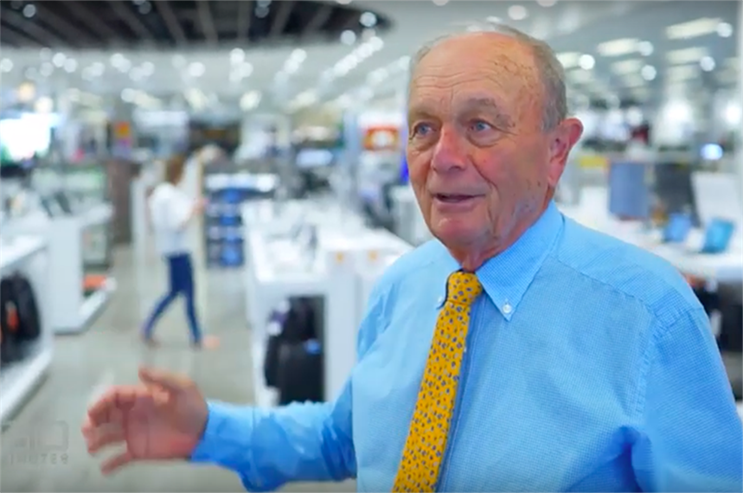 Gerry Harvey, 80, isn't bothered by the coronavirus, but says it is good for business (Photo: 60 Minutes)
