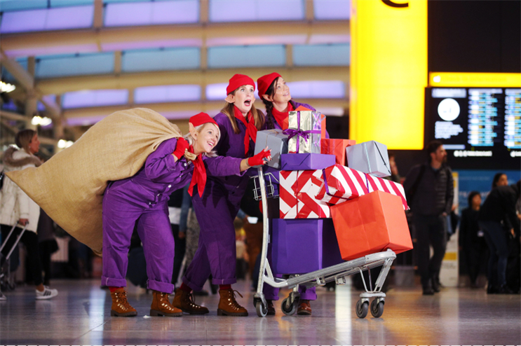 Watch: Heathrow campaign offers passengers a glimpse of 'Santa's workshop'