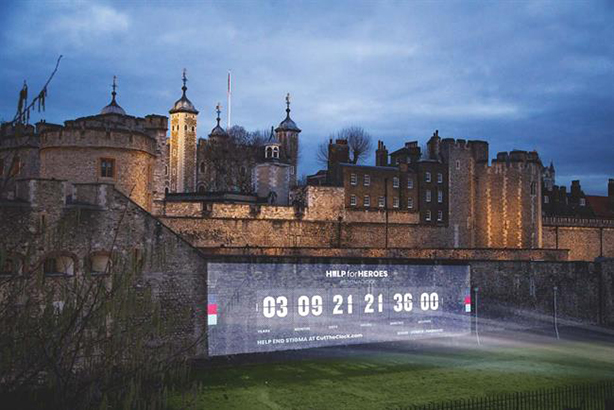 Help for Heroes lights up Tower of London to focus on veterans' mental health