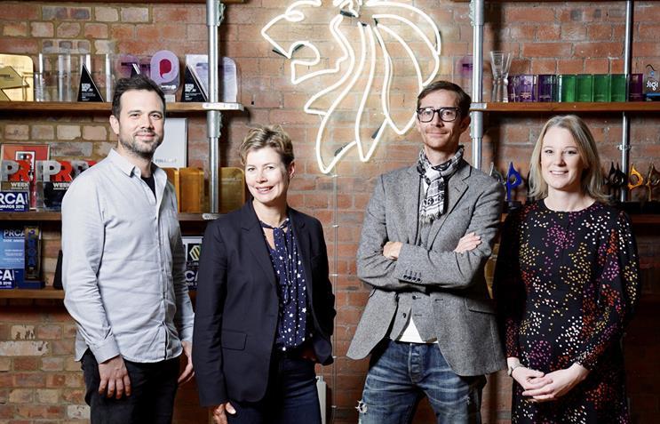 Senior team: (l to r) Seb Dilleyston, Jo Carr, James Gordon-Macintosh and Anna Terrell