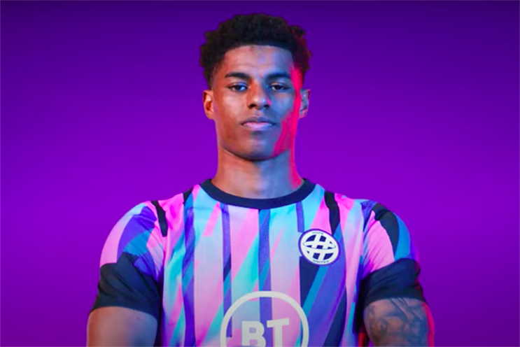 Marcus Rashford is one of the football stars supporting BT's 'Hope United' campaign