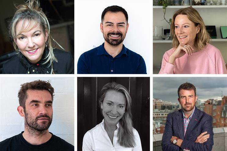 Clockwise from top left: Jori White, Liam Keogh, Gemma Bell, Mark Stretton, Anouschka Menzies and Damo Jones