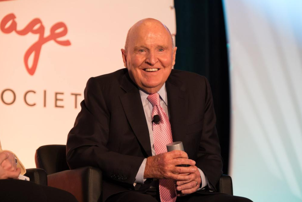 Former GE chief executive Jack Welch at the Arthur W. Page Society's Spring Seminar.
