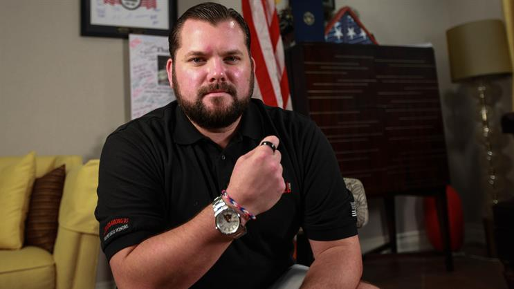 Retired Marine, wounded warrior, and #22Kill executive director Jacob Schick