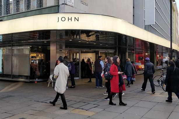 John Lewis changes Oxford Street storefront to just 'John'