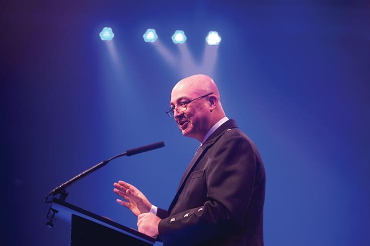 Unilever CEO Alan Jope at the PRWeek UK Awards.