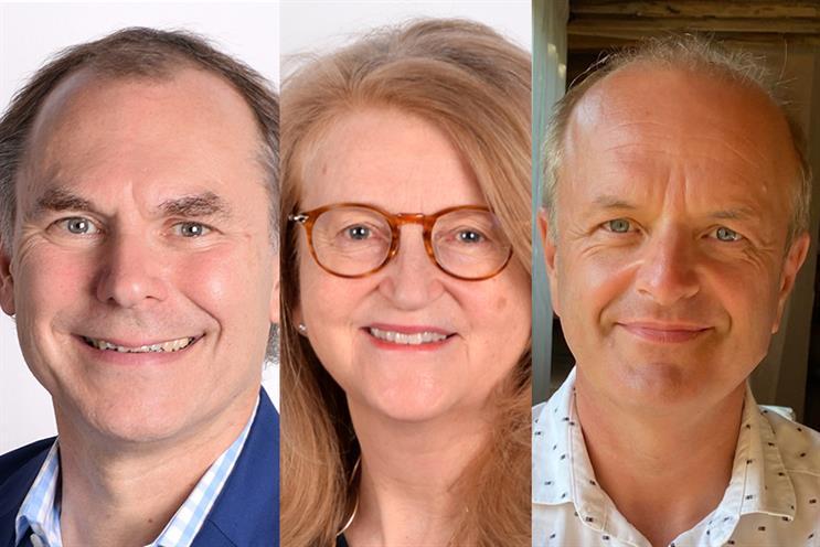 (L-R) Tony Langham, Clare Parsons and Gordon Tempest-Hay