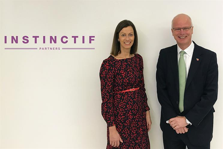 Instinctif's Laura O'Connell and Tim Linacre.