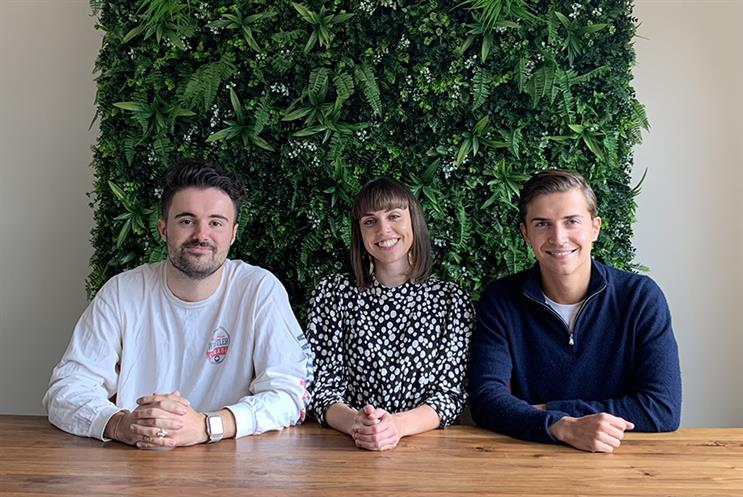 Look After management team: Nic Young, Scarlett Stephens-Smith and Felix Henderson