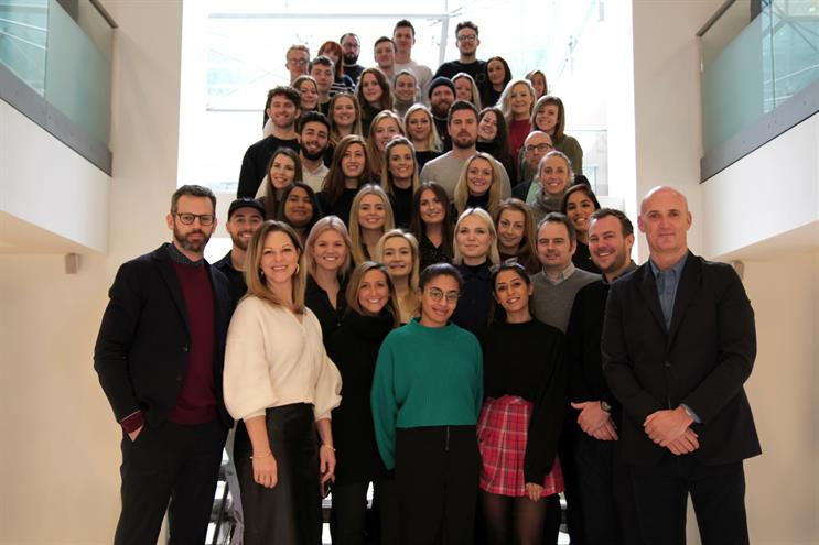 The M&C Saatchi Sport & Entertainment team, including newly promoted global CEO Steve Martin (far right)