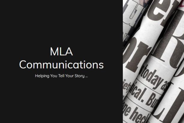Screenshot of MLA Communications home page