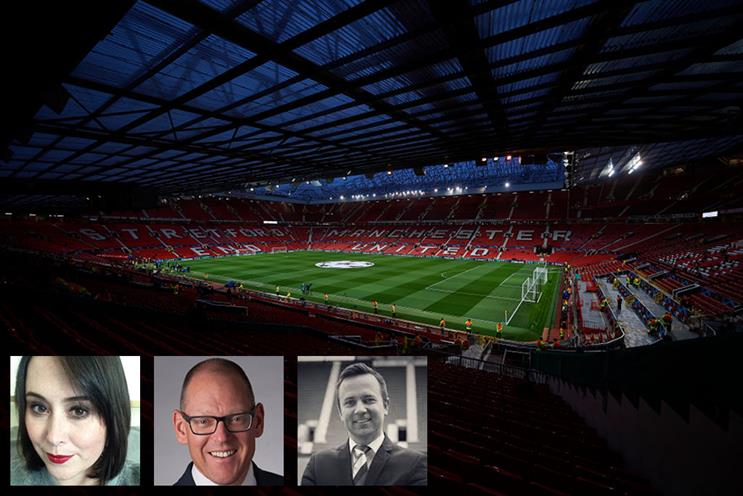 Rachel Fraser, Andrew Ward and Greig Mailer have signed for Manchester United (Photos: Quality Sport Images/Getty Images, LinkedIn and Twitter)