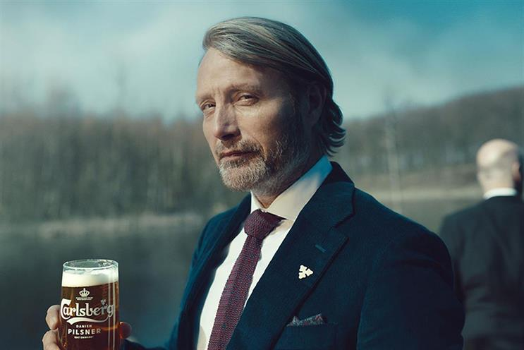 Mads Mikkelsen starred in Carlsberg ads to relaunch its pilsner in the UK