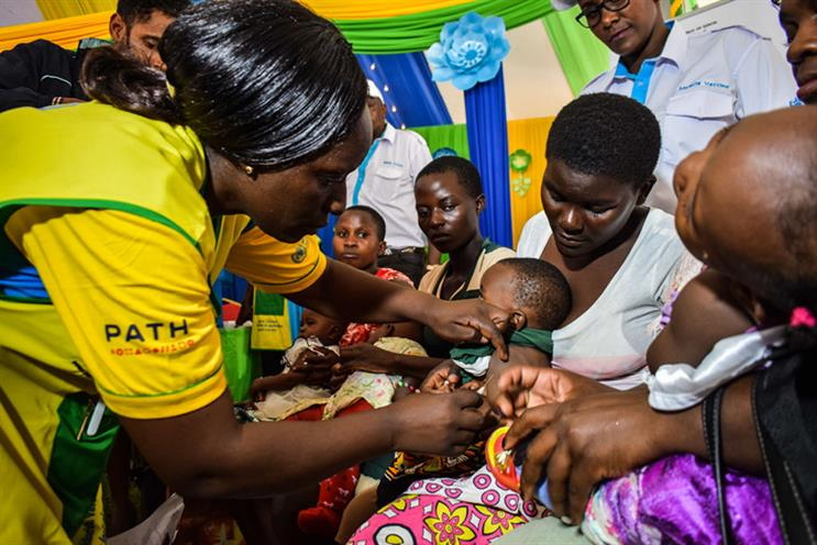 A health worker vaccinates a child against malaria – one of the diseases it is Glide's mission to eliminate (Photo: Getty Images)
