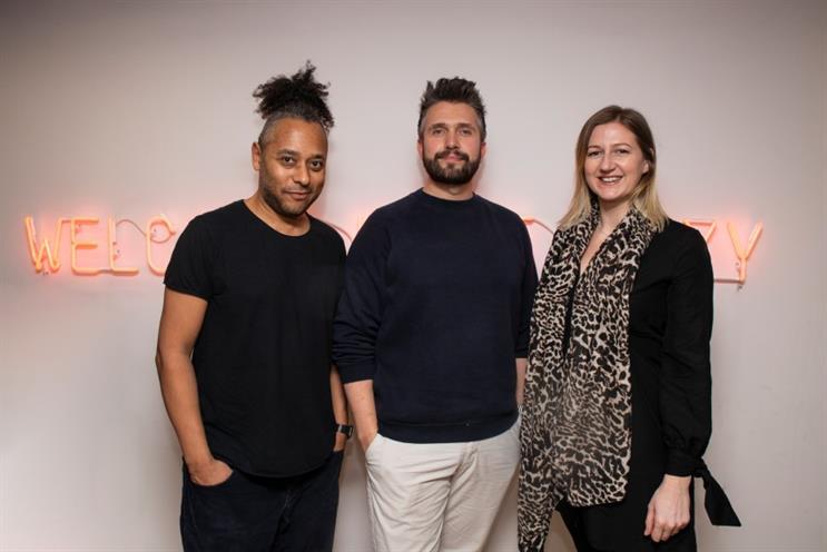 (L-R) Chomoi Picho-Owiny, creative director; Alex Myers, founder & CEO; Ali Maynard James, managing partner