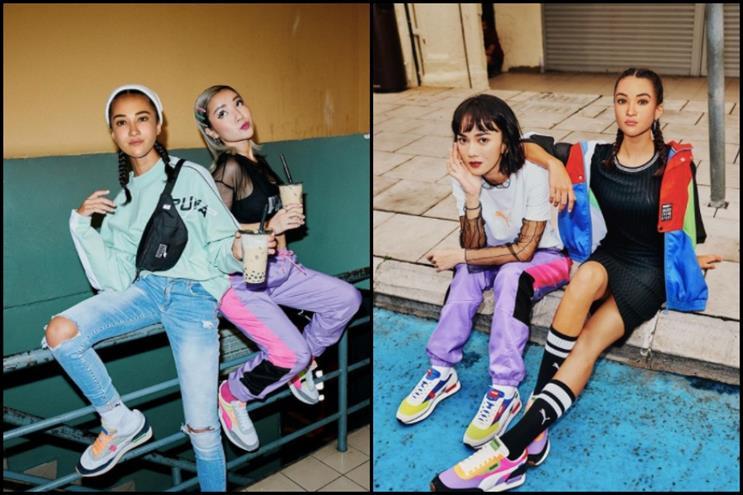 Maya was created to market Puma's Future Rider shoes