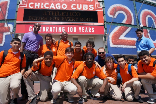 Midtown Center for Boys participants at a Chicago Cubs game