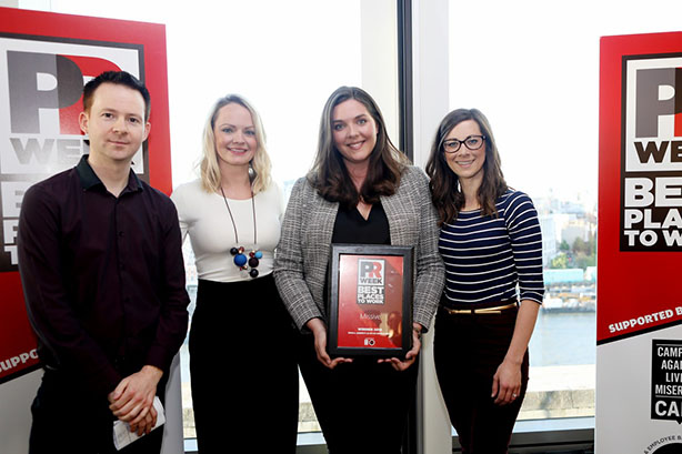 UK Best Places to Work Awards 2019 winners - Small Agency