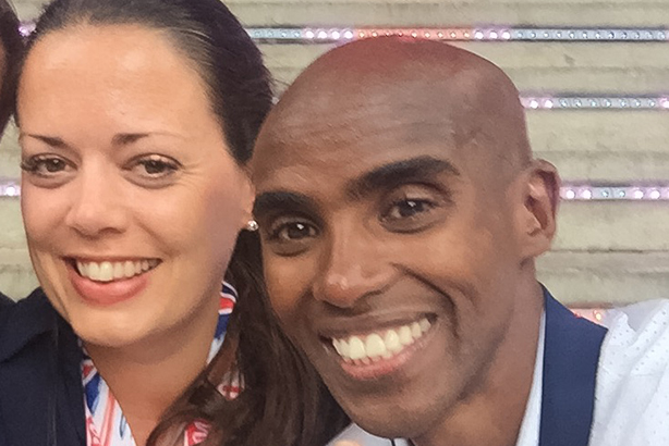 Freuds director Jo Livingston with client Mo Farah