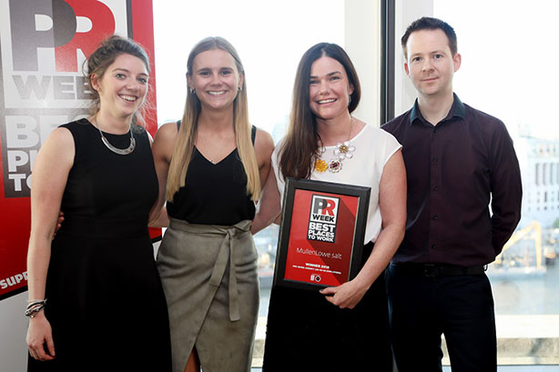 UK Best Places to Work Awards 2019 winners - Mid-Size Agency