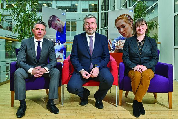 (L-R) James Lyons, head of media; Simon Enright, director of comms; Alaina Macdonald, head of public affair