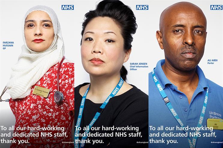 Celebrity photographer Rankin has taken 12 portraits of NHS staff to celebrate the anniversary of the service