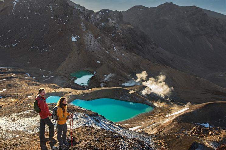The Tongariro Alpine Crossing: a popular hike for tourists in New Zealand