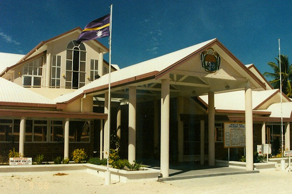 The Nauru parliament. The government hired Mercer PR to handle its communications