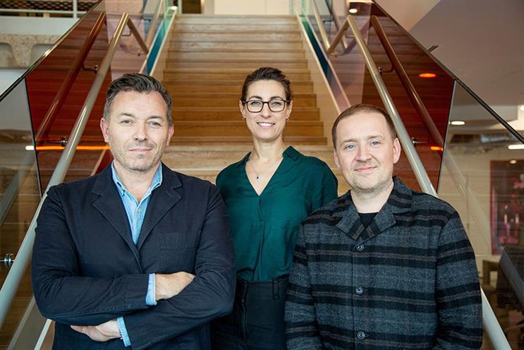 Ogilvy's PR & Influence leadership team: Matt Buchanan, Nicola Dodd and Ben Bailey.