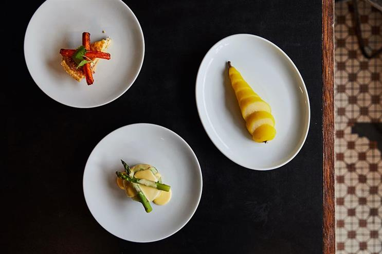 OpenTable: menu designed by Barclay