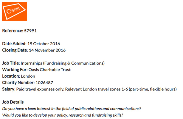 Francis Ingham: charity ad for unpaid PR interns 'plain wrong' and possibly illegal