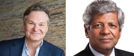 (Left to right): Olson CEO John Partilla, ICF International CEO Sudhakar Kesavan
