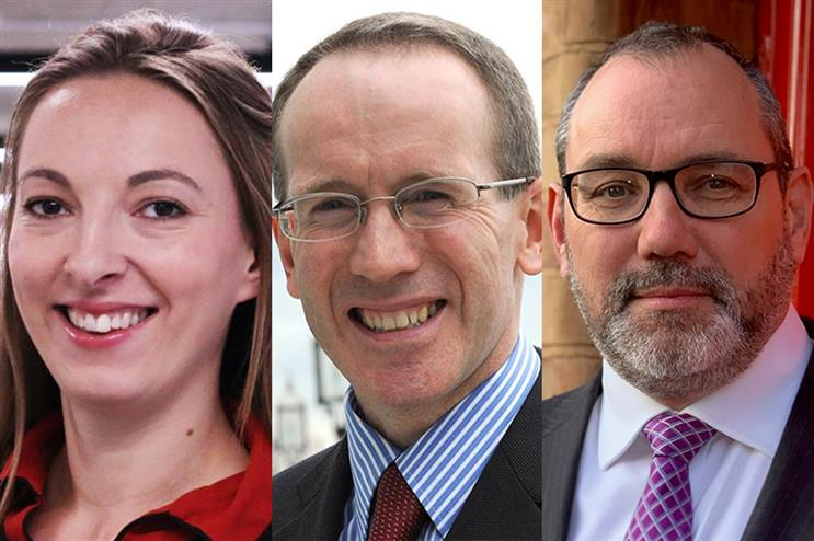 (L-R) Emma Petela and George McGregor are challenged by Liam Herbert for the position of chair of the PAB