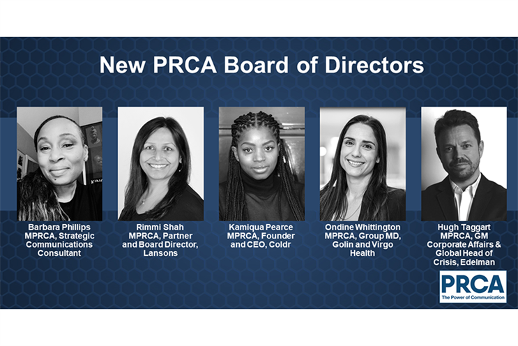The PRCA unveils diverse new board