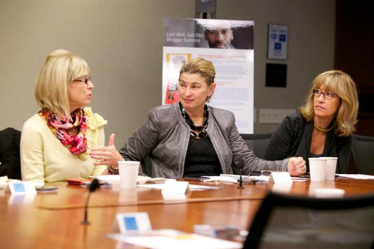 Sally Susman, EVP of corporate affairs at Pfizer, meets with bloggers to discuss longevity and aging well.