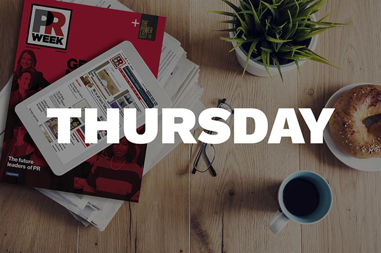 Breakfast Briefing: 5 things for PR pros to know Thursday morning