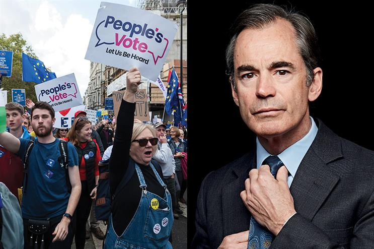 People's Vote campaign staff have written to Finsbury clients and its parent company to exert pressure on Roland Rudd (pic credit: Wiktor Szymanowicz / Barcroft Media via Getty Images/Tom Campbell)