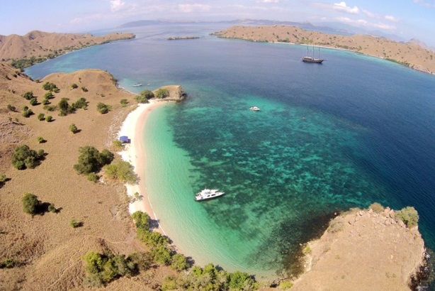 Facebook image from Indonesia Travel of Pink Beach in Komodo Island