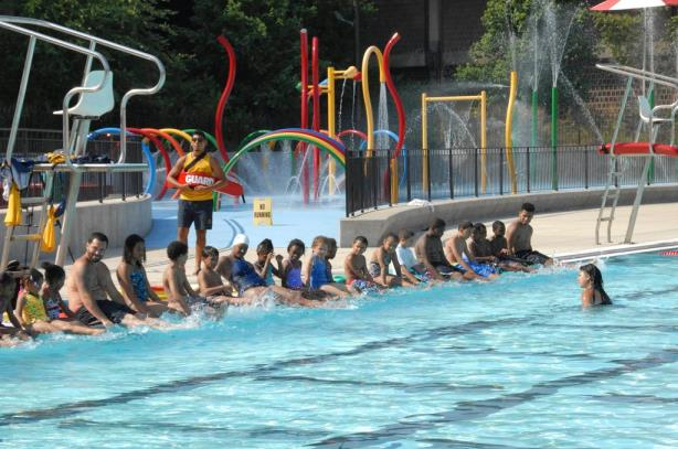 A pool safety event conducted by the group in 2013.