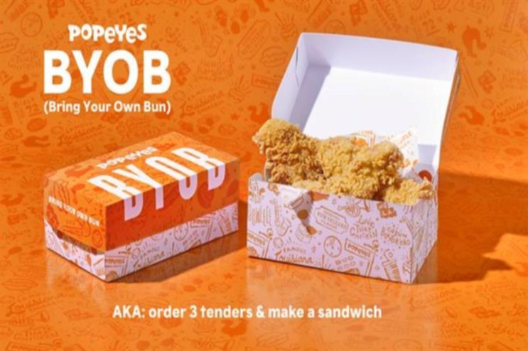 Popeyes' fix for the chicken sandwich shortage: Bring your own bun